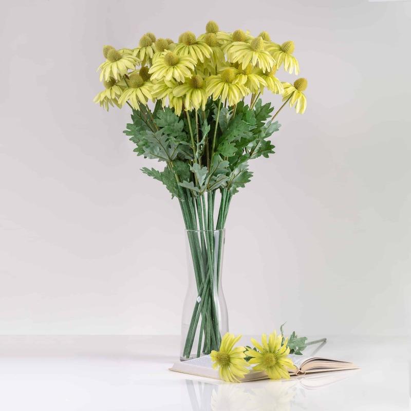Umelá echinacea LUCIA svetlo-zelená. Cena uvedená za 1 kus.