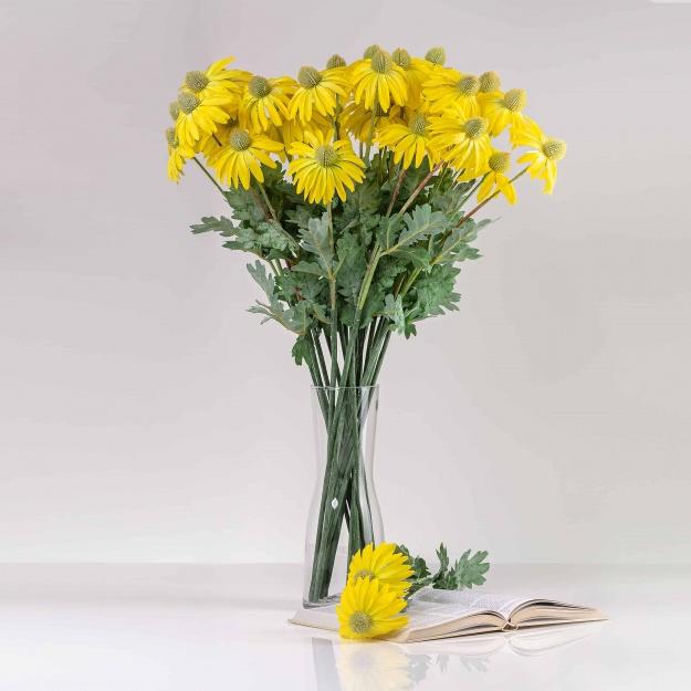 Umelá echinacea LUCIA žltá. Cena uvedená za 1 ks.