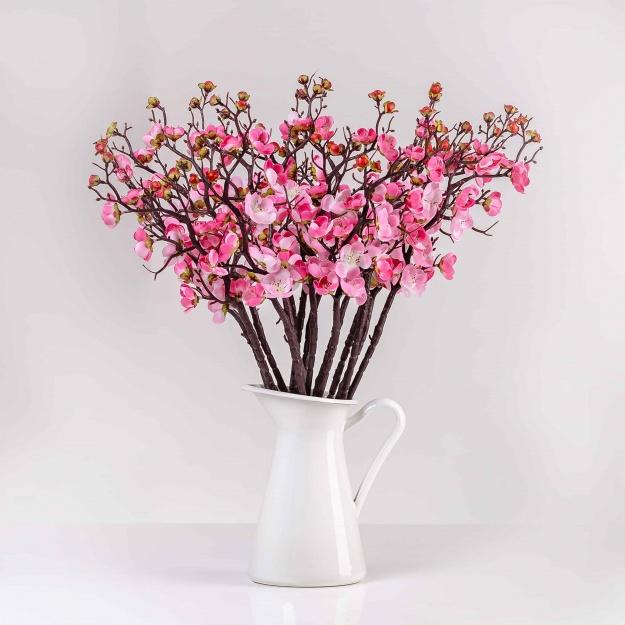 Umelá vetvička IVETA jemno-ružová. Cena uvedená za 1 kus.
