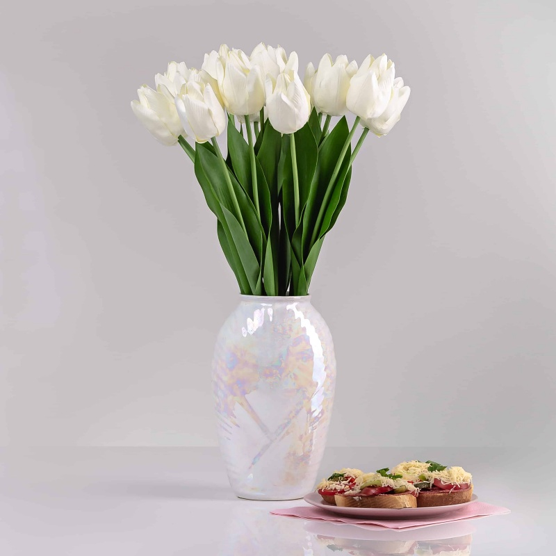 Selyem tulipán ELA fehér. Ár/darab.