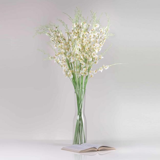 Umělá orchidea JULIE bílá. Cena uvedena za 1 kus.