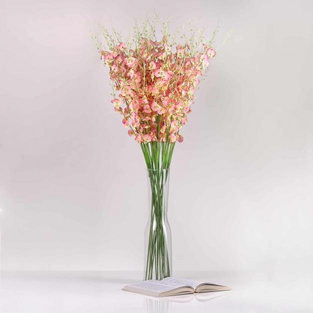 Selyem orchidea JÚLIA rózsaszín. Ár/darab.