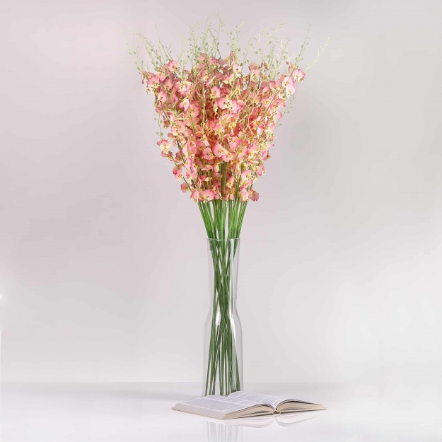 Umělá orchidea JULIE růžová. Cena uvedena za 1 kus.