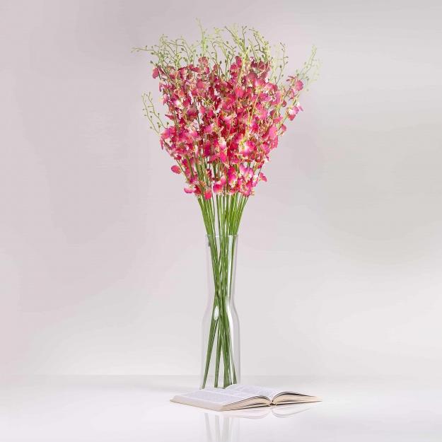 Umělá orchidea JULIE růžově-fialová. Cena uvedena za 1 kus.