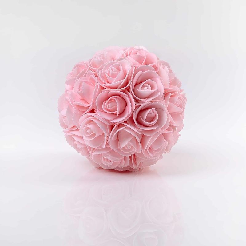 Dekorációs viráglabda rózsából LINDA rózsaszín. Ár./darab.