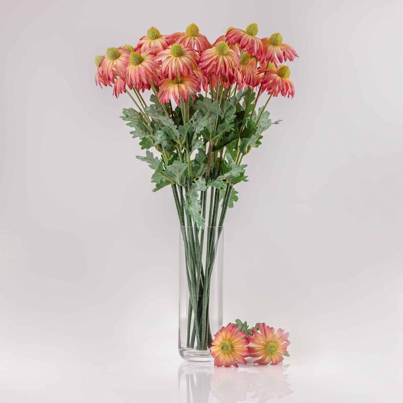 Umelá echinacea LUCIA ružovo-červená. cena uvedená za 1 ks.